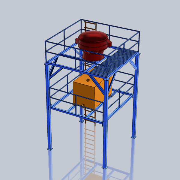 Our 3D model of the proposed equipment
